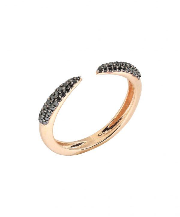 BLACK DIAMOND CLAW RING 1
