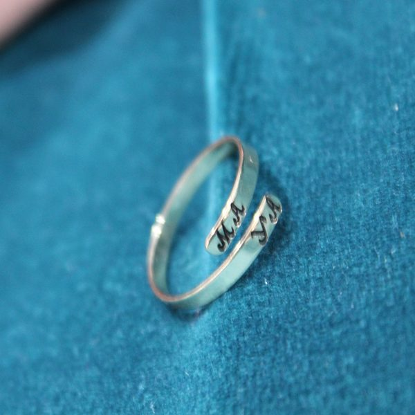 CUSTOM INITIAL TWISTED BAND RING 1